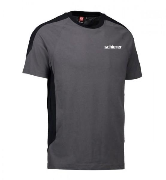 T-Shirt Kontrast inkl. Druck, Gr. 3XL