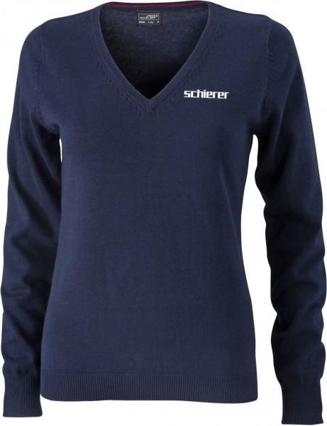 Women's V-Neck Pullover inkl. Stick Logo, Gr. M