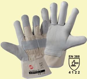 Rindnarbenleder-Handschuhe Asphalt Gr.10