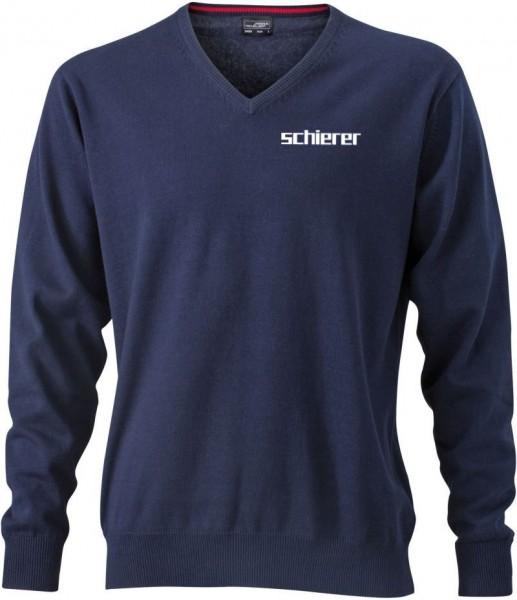 Men's V-Neck Pullover inkl. Stick Logo, Gr. S