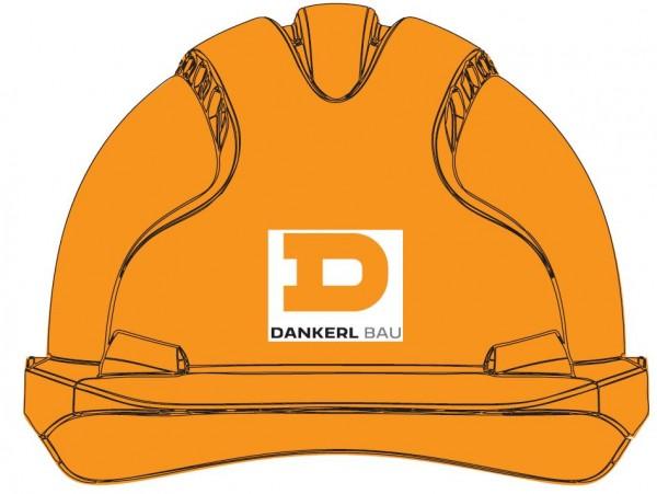 EVO®3 belüftet, Standard Schirm, Revolution® & Drehradverschluss, orange inkl. Druck