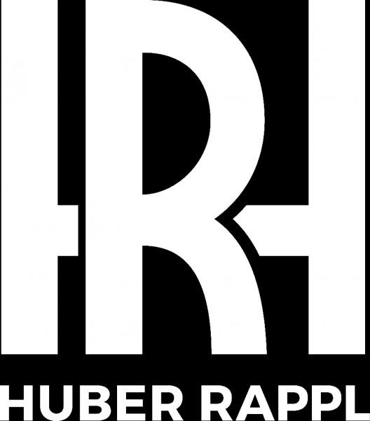 Druck Logo Huber Rappl, weiß