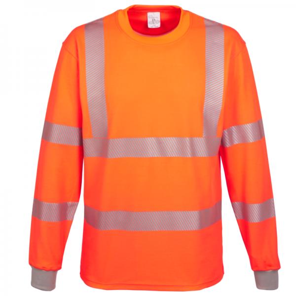 Warn-T-Shirt langarm EN ISO 20471, Kl. 3, leuchtorange
