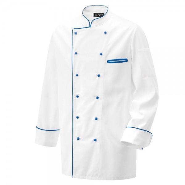 Kochjacke weiß langarm mit Paspel