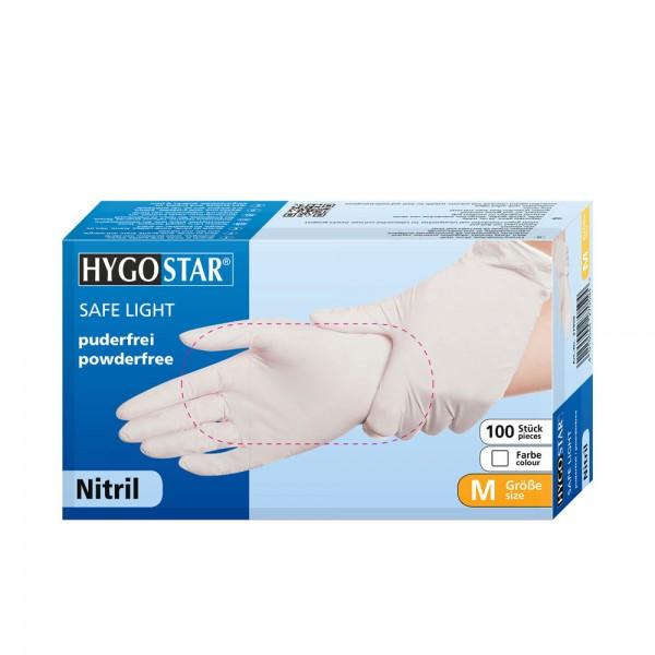 "Nitril-Handschuhe ""Safe Light"" | puderfrei, weiß"