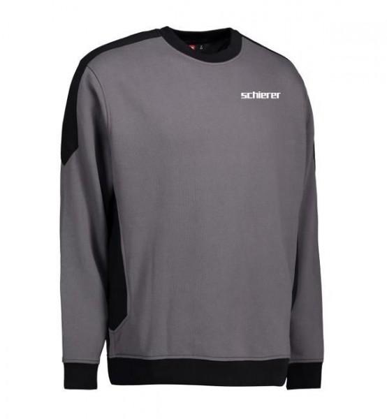 Sweatshirt Kontrast inkl. Druck, Gr. L