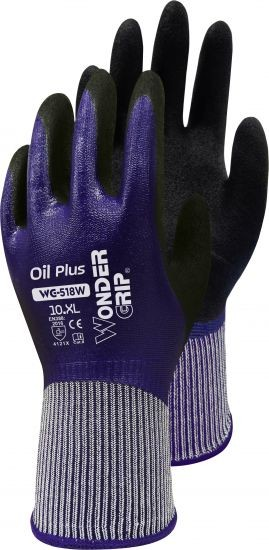 Oil Plus, Nylon-Strickhandschuh mit Nitril