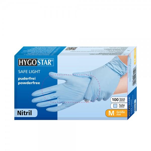 "Nitril-Handschuhe ""Safe Light"" | puderfrei, blau"